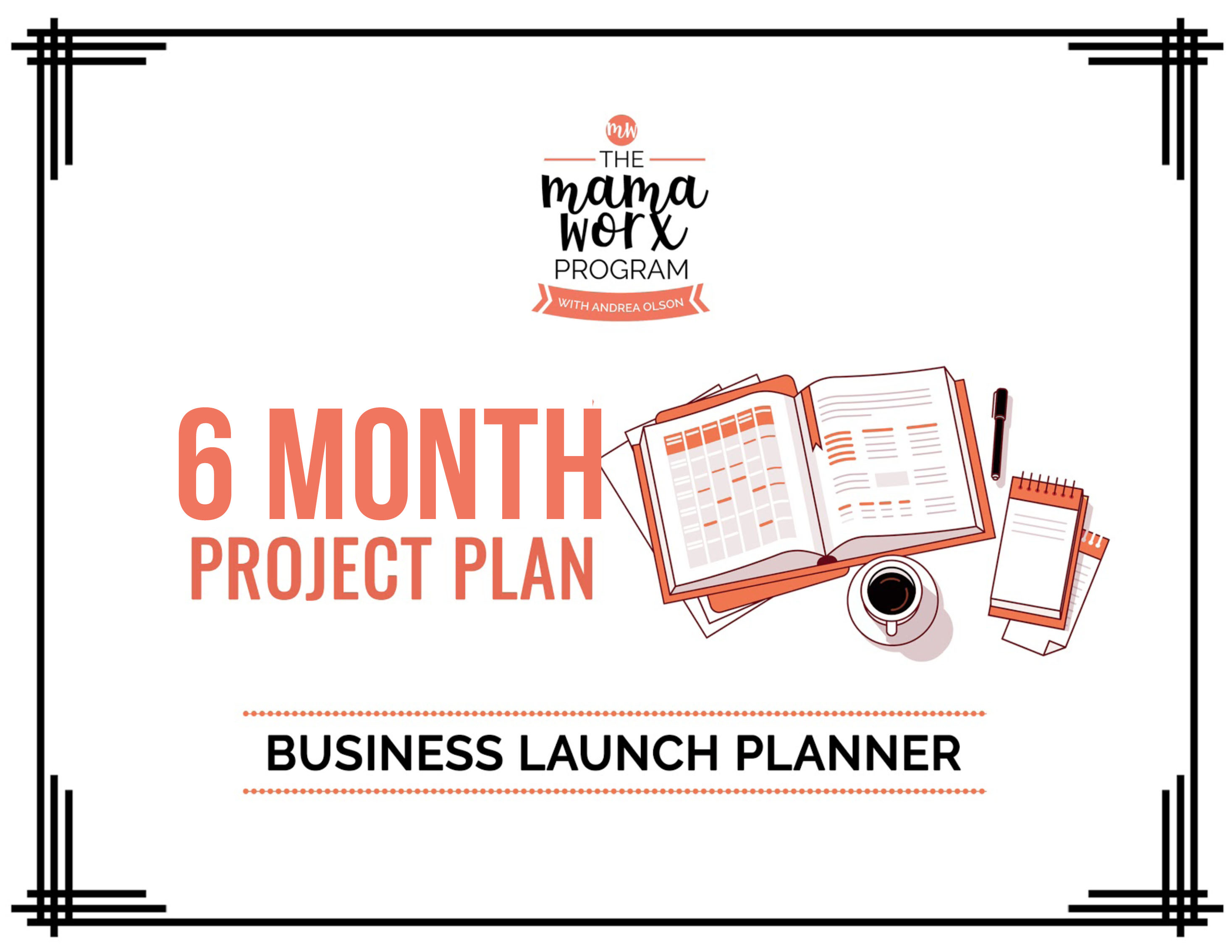 6 month business launch planner