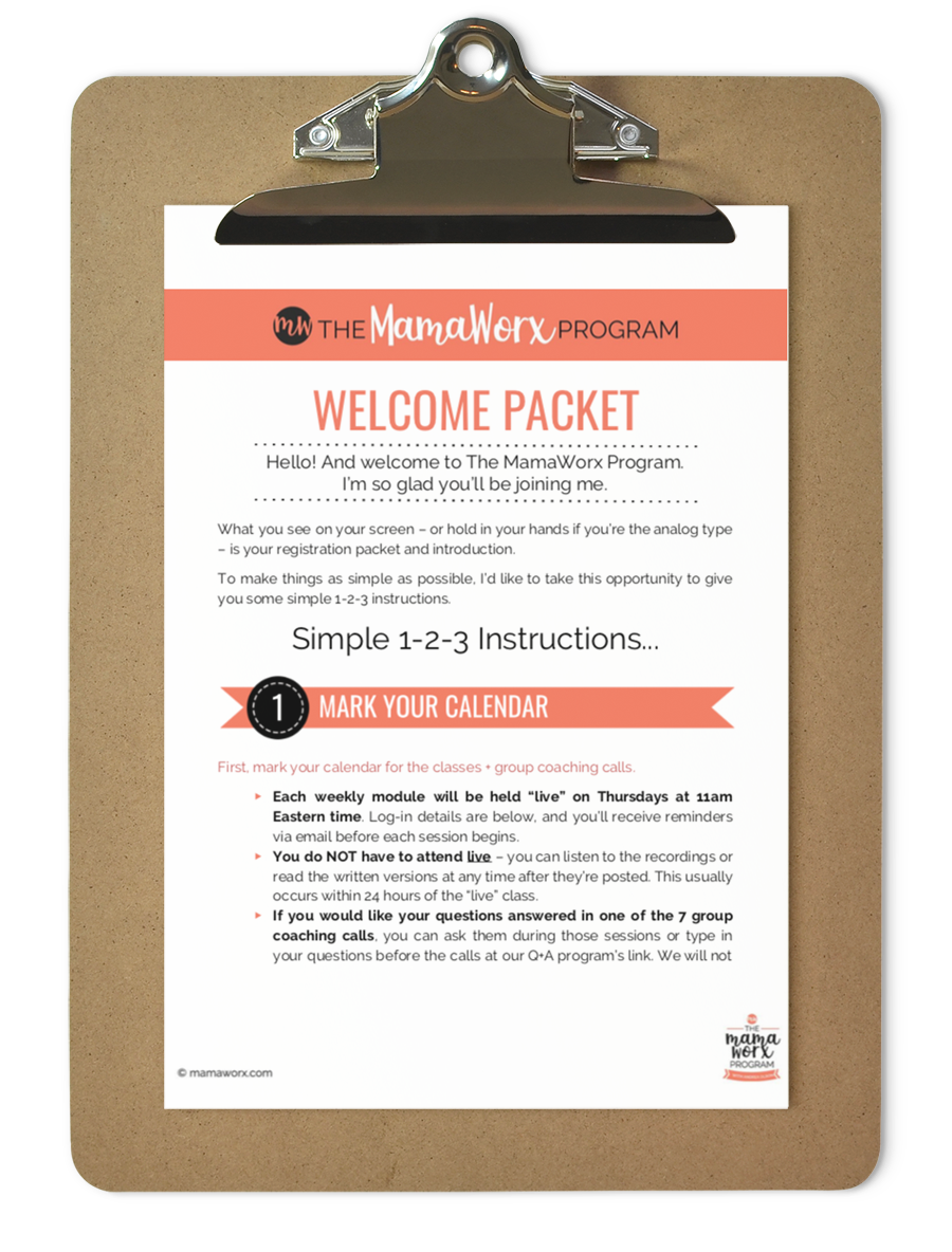 MWx welcome packet on clipboard 2018